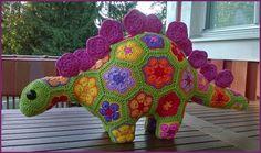 Siiri the Stegosaurus. Bit modified from Design by Heidi Bears. African Flowers, Bears, Dinosaur Stuffed Animal, Animals, Design, Animales, Animaux, Animal Memes, Bear