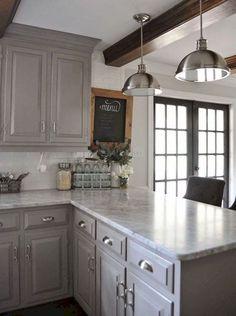 62 gorgeous farmhouse kitchen cabinet makeover ideas