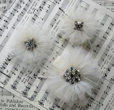 Tulle Hair Pin with Rhinestone