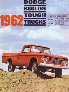 1962 Dodge pickup truck - dealer brochure cover page Old Dodge Trucks, Dodge Pickup, Pickup Trucks, Ram Trucks, Station Wagon, Vintage Advertisements, Vintage Ads, Dodge Nitro, Classic Chevy Trucks
