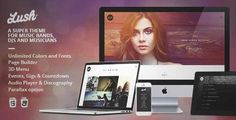 Download and review of Lush - Music Band & Musician WordPress Theme, one of the best Themeforest Entertainment themes
