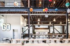 Pinterest Offices. This brick warehouse offers good space and was designed by Janette Kim from All of the Above, Anna Neimark and Andrew Atwood from First Office, under the direction of architect Neal Schwartz