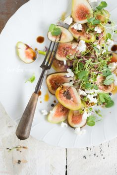 Fig Salad with Marinated Danish Feta & Sweet Balsamic | two loves studio