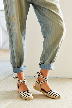 Soludos Classic Canvas Stripe Espadrille Sandal - Urban Outfitters