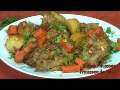 Fricase de Pavo - Turkey Fricassee- (Cuba/Puerto Rico)--Spanish and English.  (Spanish first.)