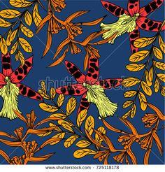 flower pattern - bu vektörü Shutterstock'ta satın alın ve başka görseller bulun. Flower Patterns, Flowers, Painting, Image, Art, Art Background, Doodle Flowers, Floral Patterns, Painting Art