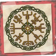 Urbanthreads.com This intricate symbol is a Viking compass, or vegvisir. Popular as a tattoo, it's said to help the bearer see the way in a storm, even if the way is not known.