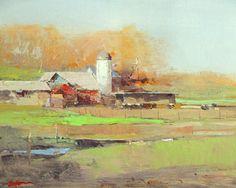 Spring Breath - oil 8 by Zufar Bikbov Oil ~ 8 x 10 Farm Paintings, Painting Competition, Southwest Art, Oil Painters, Art Club, Magazine Art, Art Techniques, American Art, Impressionism