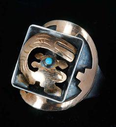 1950s PERUVIAN Silver RING 18K Gold CHINCHILA design PERU VINTAGE adjustable | eBay