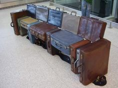 I shall have one of these one day!  suitcase bench