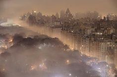 Foggy Night, Central Park, New York City