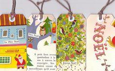 Retro Christmas gift tags,
