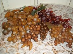 8 cluster bunches grapes vintage plastic by mypicketfencecottage
