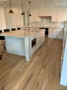 Red Oak Floors, Maple Floors, Light Hardwood Floors, Wood Floor Kitchen, Kitchen Flooring, Oak Floor Stains, White Oak Kitchen, Refinishing Hardwood Floors, Kitchen And Bath Remodeling