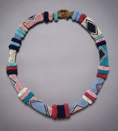 Africa | Ndau / Shangaan necklace from South Africa | Glass beads, sinew and fiber | 19th century | Sold