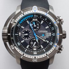 CITIZEN PROMASTER AQUALAND ECO-DRIVE DIVER BLACK MENS WATCH BJ2120-07E 200M NEW in Wristwatches | eBay