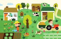 Kids Art Class, Art For Kids, School Board Decoration, Illustration Mignonne, Art Fantaisiste, Art Assignments, Farm Kids, Drawing Projects, Hand Sketch