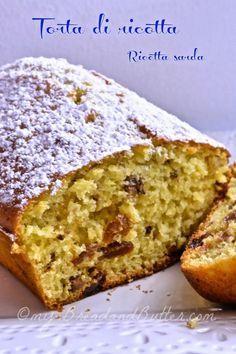 torta di ricotta Italian Desserts, Vegan Desserts, Italian Recipes, Delicious Desserts, Yummy Food, Banana Bread Brownies, Torte Cake, Plum Cake, Breakfast Items