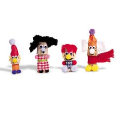 cork trolls = corks + faux fur + felt or fabric + yarn or string + pom-poms + google eyes + glue
