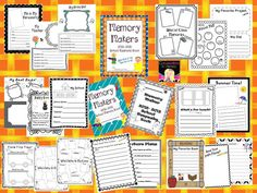 Need a Fun End of the Year Activity?  Students create a Memory Book!$