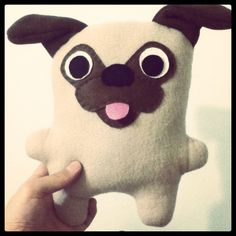 Paul the Pug Plush by skudfisher, via Flickr