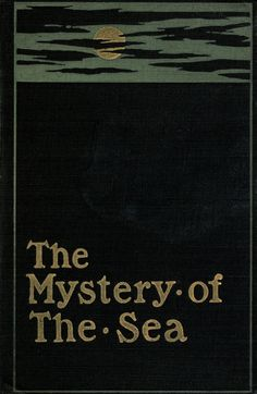 The mystery of the sea | Beautiful sea-themed book cover.