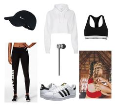 """Do you recognise me?"" by maisiemoochoo ❤ liked on Polyvore featuring River Island, Calvin Klein, NIKE and adidas Originals"