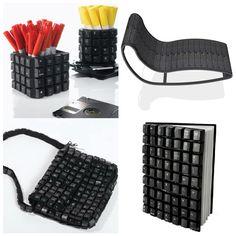 Todos tenemos un viejo teclado pero no imaginabamos poder darle tantos usos nuevos. Unos botes para lápices sencillos de realizar, una chais...