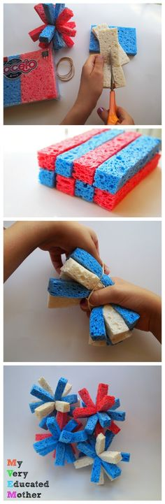 If you haven't already made a set of sponge balls what are you waiting for?! Here's a quick photo how-to...now go get busy!