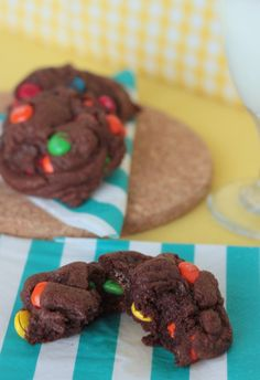 Chocolate M&M's Cookies