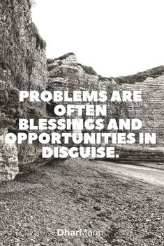 Problems are often blessings and opportunities in disguise. Best Quotes, Love Quotes, Motivational Videos, Financial Tips, On Set, Filmmaking, Blessings, Storytelling, Opportunity