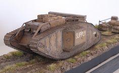 Armorama :: correct colour for WWI british tanks Ww1 Tanks, British Tanks, Modeling Techniques, Model Tanks, Military Diorama, World War One, Wwi, Military Vehicles, The Twenties