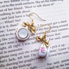 Doll's House Teacup Earrings by AvecAmourLauren on Etsy