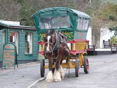 Polperro's Famous Horse Bus, Polperro meaning Pyra's cove is a village & fishing harbour on the SE Cornwall coast in SW England, UK..