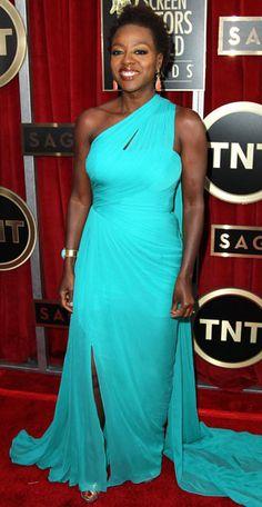 Viola Davis Oscar Nomination | Viola Davis - SAG 2013: The Nominees, Winners and Presenters Show Off ...