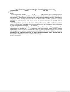 Printable Sample Contract To Sell On Land Contract Form  Generic