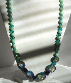 BEAUTIFUL AMAZONITE AND CRYSTAL NECKLACE #Handmade #Statement
