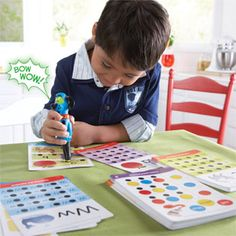 Hot Dots Jr - Preschool kids with autism love technology.  This fun learning set will teach them important school skills and give immediate feedback.  A teacher favorite!