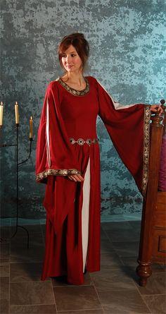 Edles Kleid mit Bordüre