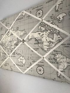 Gorgeous world map fabric memo board, perfect for your photos and keepsakes. World Map Fabric, Fabric Memo Boards, Playroom, Vintage World Maps, Etsy, Game Rooms, Playrooms, Arcade Room, Kidsroom