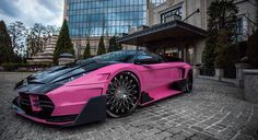 Lexani Wheels, the leader in custom luxury wheels.  Lamborghini Murcielago with black and chrome CS-Monza wheels.