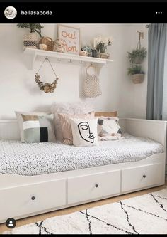 Spare Room Decor, Living Room Decor Cozy, Teen Room Decor, Bedroom Decor, Guest Bedroom Home Office, Cama Ikea, Daybed Room, Bedroom Furniture Online, Home Office Design