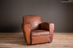 French Club Chairs by William's Antiks | WA26-31 Lemans Library Solo Leather French Club Chair | 1