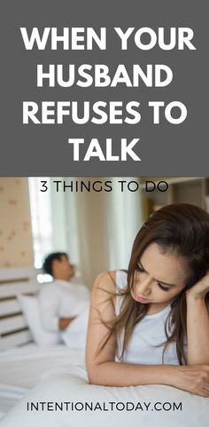 Tired of chasing after a husband who refuses to talk? I was. And I learned three key things that helped our marriage (and my sanity) 3 things you need to do if your husband has shut down #marriage #marriageadvice #intentionaltoday #Christianmarriage #newlyweds #newlywedadvice
