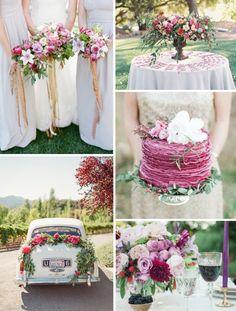 5 originálních barevných palet pro vaši podzimní svatbu