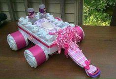 Another diaper arrangement idea
