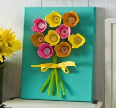 Repurpose egg cartons to make a set of flowers with this kid-friendly DIY project.