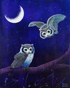 Risultati immagini per beautiful owls Composition Photo, Owl Artwork, Owl Wallpaper, Amor Animal, Owl Fabric, Owl Cartoon, Owl Pictures, Horned Owl, Beautiful Owl