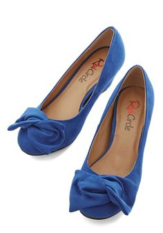 Pop Sculpture Wedge. Brighten your day with a pop of bold color in these architectural wedges! #blue #wedding #modcloth