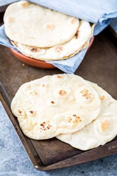 Easy, Homemade, Vegan & Yeast-Free Flatbread. These are awesome and SO easy to make!
